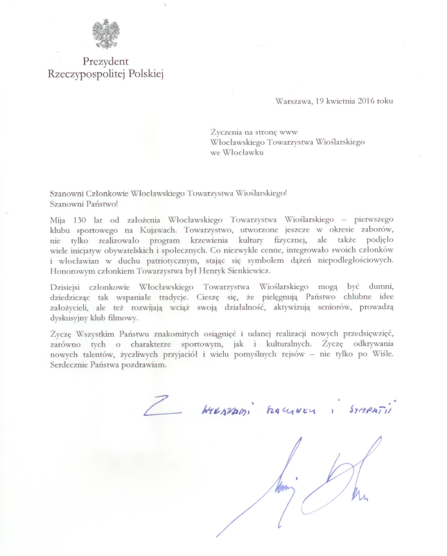 List Prezydenta Rzeczypospolitej Polskiej